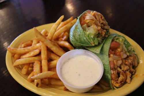 wrap with fries